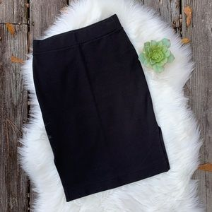 Madewell Column Side Slit Knit Pencil Skirt Sz XS